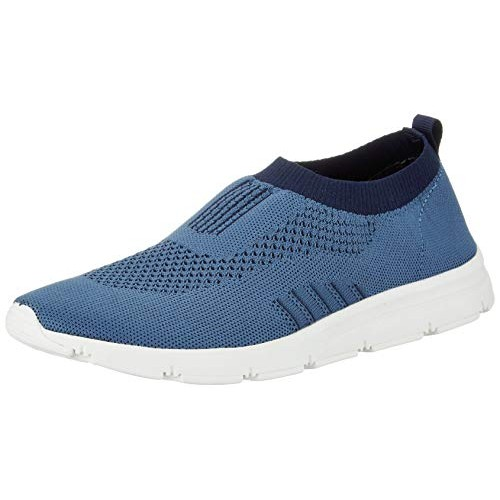 Bourge Blue Mesh Slip-on Running Shoes