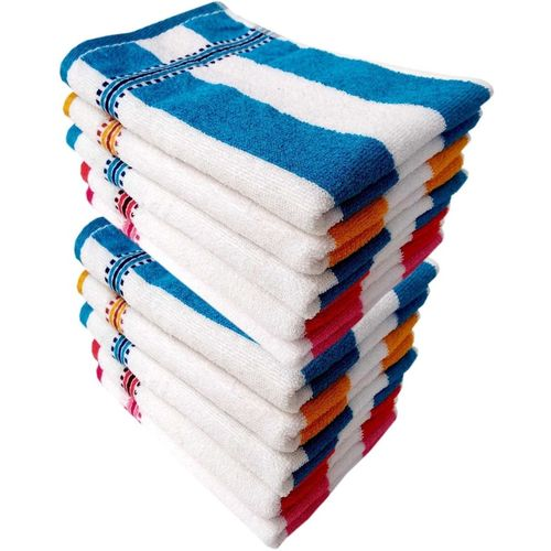 Space Fly Cotton 300 GSM Hand Towel Set(Pack of 10, Multicolor)