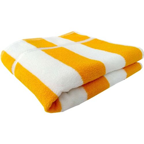 Space Fly Cotton Terry 400 GSM Bath Towel(Yellow)