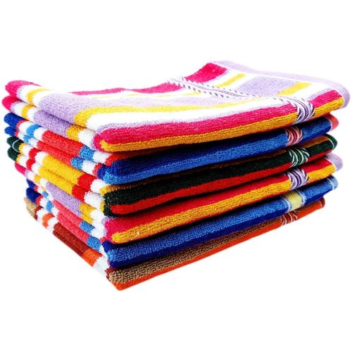 Space Fly Cotton 300 GSM Hand Towel Set(Pack of 6, Multicolor)