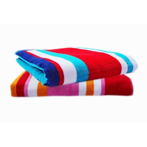 Space Fly Cotton 450 GSM Bath Towel Set(Pack of 2, Pink, Red)