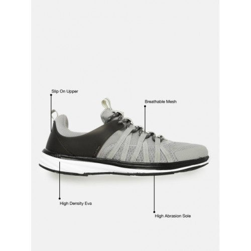 HRX by Hrithik Roshan Men Street Run Grey Lace-up Running Shoes
