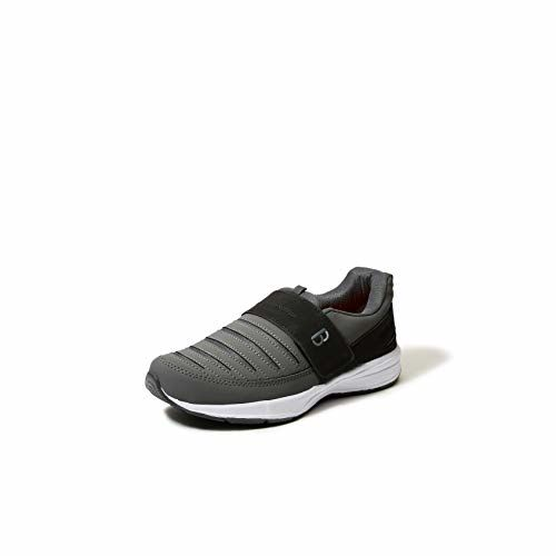 Bourge Loire-63 Grey Mesh Slip On Running Shoes