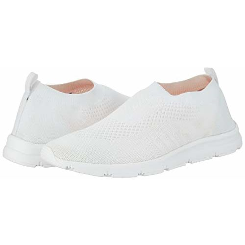Bourge Vega-2 White Mesh Slip-on Running Shoes