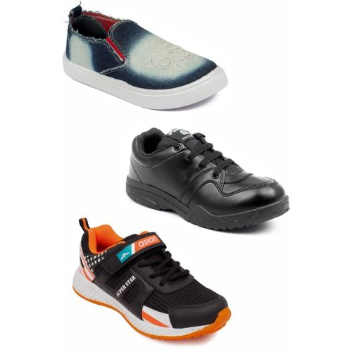 Asian Boys Lace Running Shoes(Multicolor)