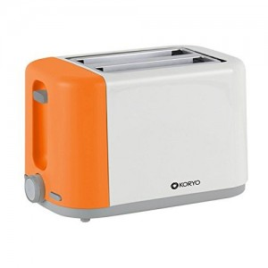 Koryo 2 Slice Pop up Toaster of 750 W with Reheat & Defrost Function (KPT1270BCO, Orange & White)
