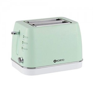 Koryo Kpt1368Bcg 2 Slice Pop Up Toaster - Green - 750 W With Reheat & Defrost Function