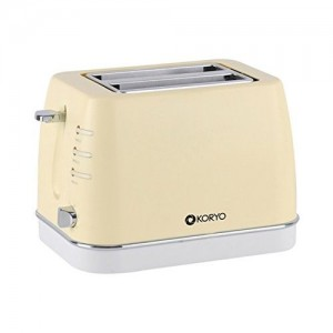 Koryo 750 W 2 Slice Pop up Toaster with Reheat and Defrost Function (KPT1367BCY, Yellow)