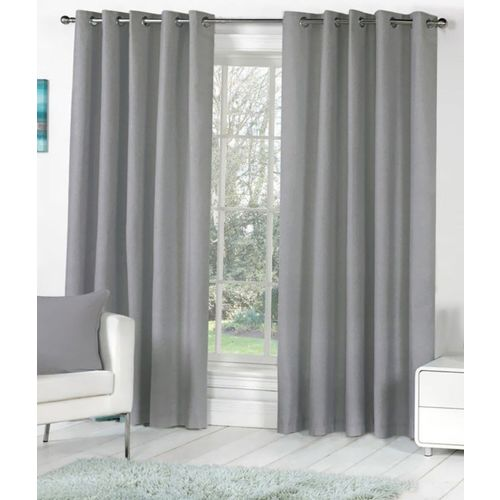 Homefab India 244 cm (8 ft) Polyester Long Door Curtain (Pack Of 2)(Solid, Grey)