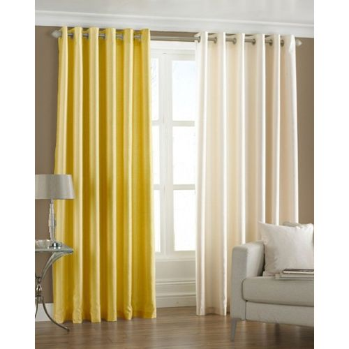 Homefab India 274.5 cm (9 ft) Polyester Long Door Curtain (Pack Of 2)(Solid, Multicolor)