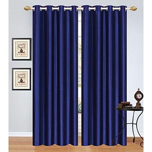 Fresh From Loom Polyester Plain Door Curtain (7 ft, Royal Blue)