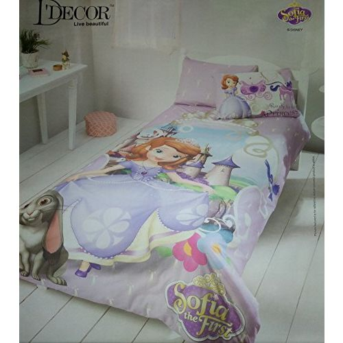 D'Decor Rajasthan Handloom DDECOR Disney Print Single Bed SHET with 1 Pillow Cover