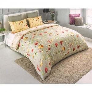 D'Decor Cotton Double Bedsheet Set (Molten Lava)