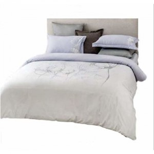 D'Decor Double Bed Sheet with 4 Pillow Covers - Balmy Pastel Lilac