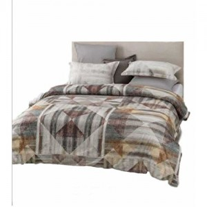 D'Decor Double Bed Sheet with 4 Pillow Covers - Amphora Cameo Brown