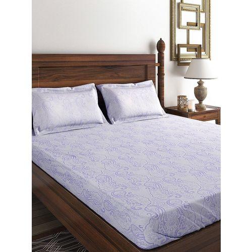 Raymond 210 TC Cotton Double Abstract Bedsheet(Pack of 1, Orange)