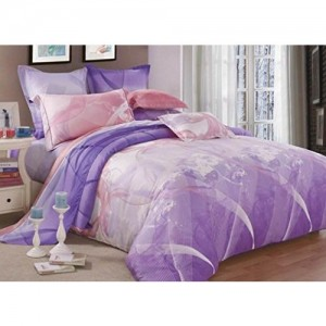 Raymond Magnus Tencel Double Bedsheet with 2 Pillow Covers - Pink (001074-BF01)