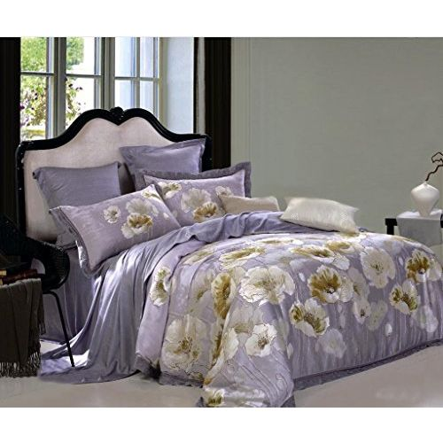 Raymond Magnus Tencel Double Bedsheet with 2 Pillow Covers - Voilet (001073-BF01)