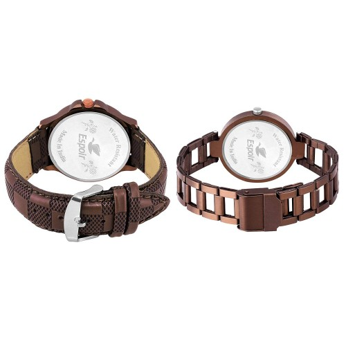 Espoir Analogue Multi-Colored Dial Couple's Watch