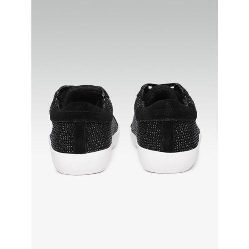Steve Madden Women Black Embellished Sneakers