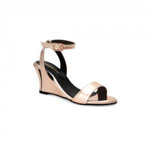 Signature Sole Women Rose Gold-Toned Solid Wedges