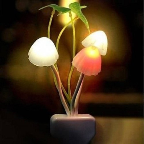 LS Letsshop Multicolor  Led Mushroom Night Lamp