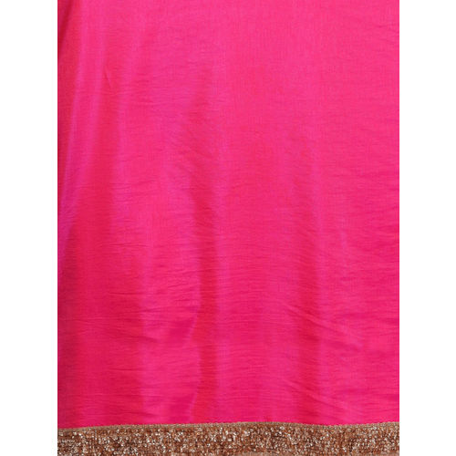Bollywood Vogue Pink & Green Embroidered Made To Measure Customised Half N Half Saree