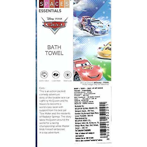 SPACES Disney Pixar Car Bath Towel, Disney Bath Towels for Kids, Super Soft Cotton Bath Towel with 550 GSM