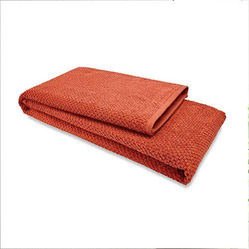Spaces Essential 450 GSM Cotton Bath Towel - Rust