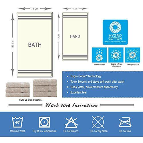 SPACES Hygro White Cotton Bath Towel