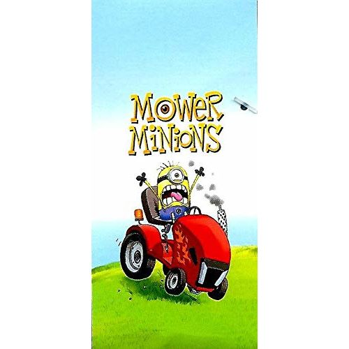 SPACES Mower Minions (Despicable Me) Bath Towel Super Soft Cotton Bath Towel with 550 GSM