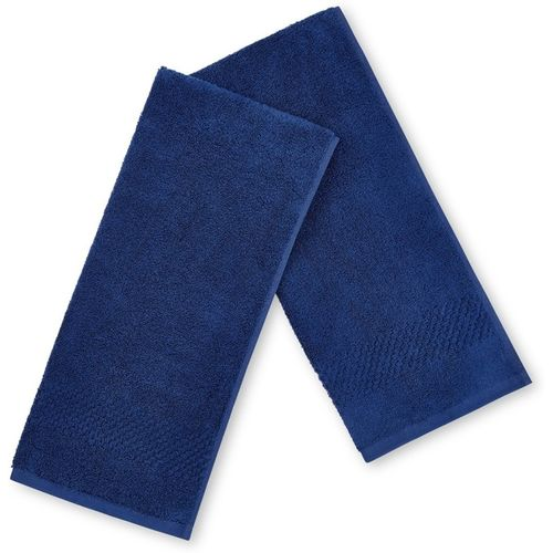 SPACES Cotton 450 GSM Hand Towel Set(Pack of 2, Blue)