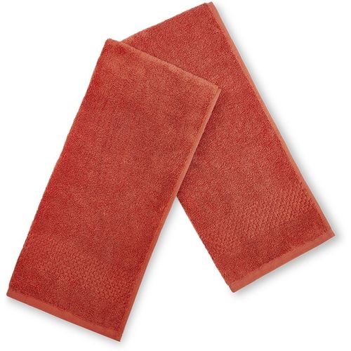 SPACES Cotton 450 GSM Hand Towel Set(Pack of 2, Maroon)