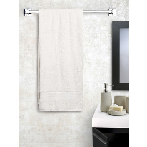 SPACES Cream-Coloured Cotton 450 GSM Bath Towel