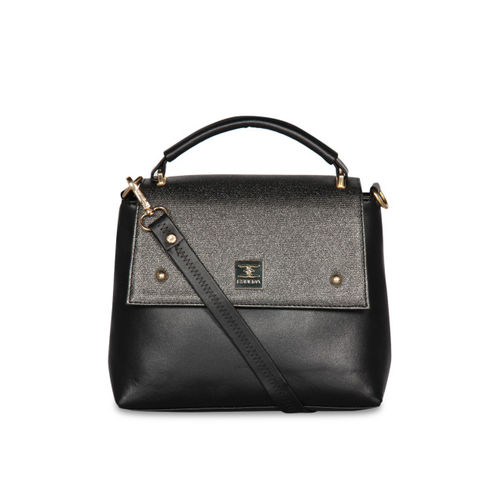 ESBEDA Black Solid Handheld Bag
