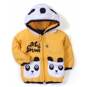 Babyhug Panda Applique Hooded Jacket
