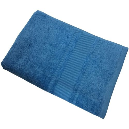 Lushomes Cotton 450 GSM Bath Towel(Blue)