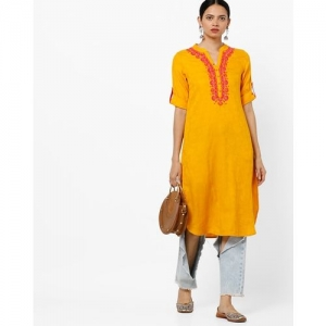 AVAASA MIX N' MATCH Self-Design Straight Kurta with Embroidery