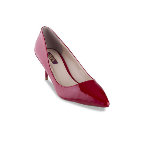 SHUZ TOUCH Women Red Solid Pumps