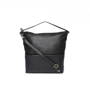 Baggit Black Solid Hobo Bag