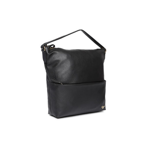 Baggit Black Solid Hobo Bag