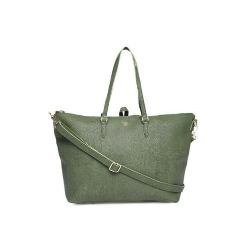 Baggit Olive Green Textured Shoulder Bag