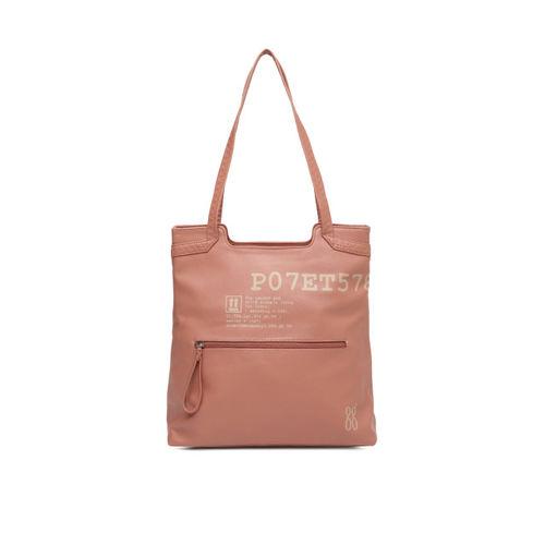 Baggit Peach Printed Shoulder Bag