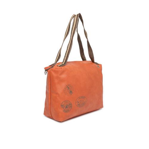 Baggit Orange Solid Shoulder Bag
