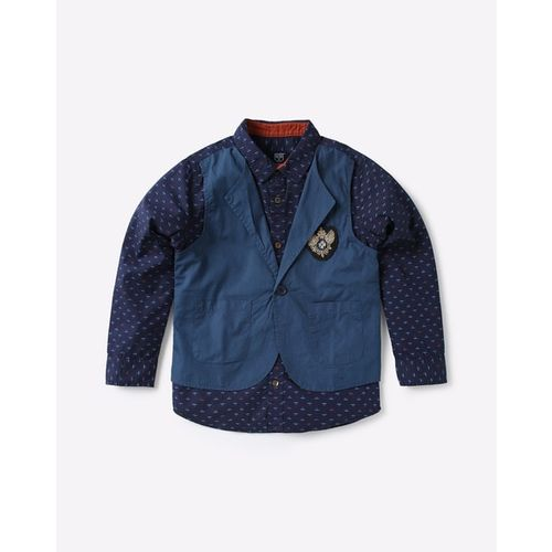 KB TEAM SPIRIT Printed Shirt with Attached Waistcoat