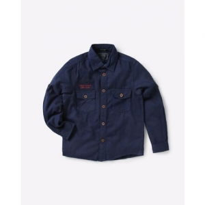 INDIAN TERRAIN Cotton Shirt with Buttoned Flap Pockets