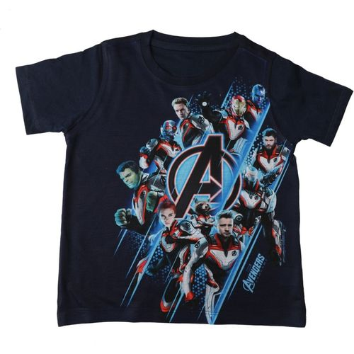 Marvel Avengers Boys Printed Cotton, Polyester T Shirt(Blue, Pack of 1)