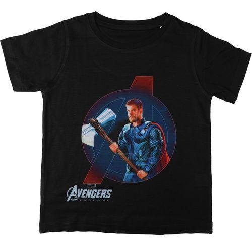 Marvel Avengers Boys Printed Cotton, Polyester T Shirt(Black, Pack of 1)