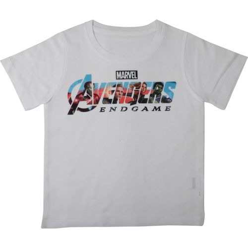 Marvel Avengers Boys Printed Polyester T Shirt(White, Pack of 1)