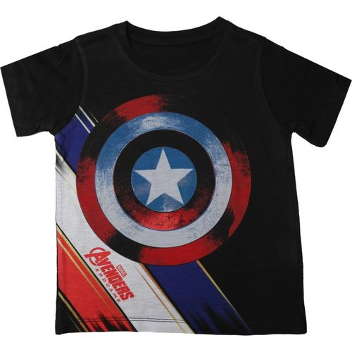 Marvel Avengers Boys Printed Cotton, Polyester T Shirt(Black, Pack of 1)